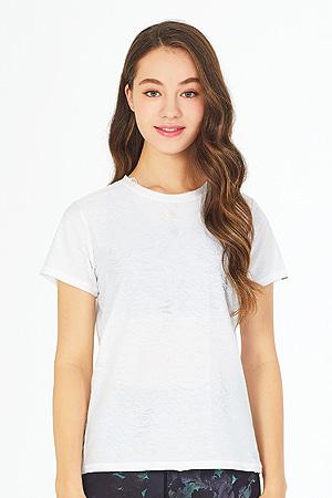 제인코트 요가복 코브 빈티지 반팔 티셔츠 QNA3305-WH