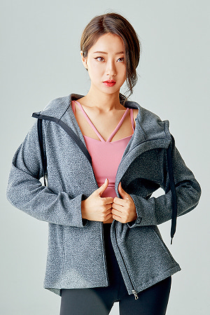 제인코트 요가복 ANY HOOD JACKET QNA3804-GY