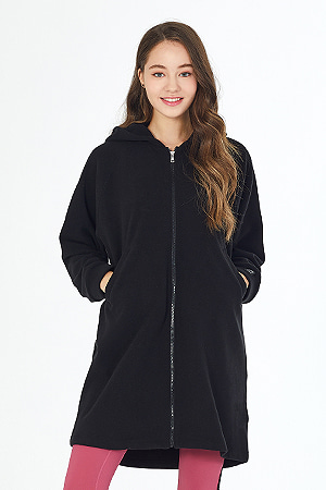 요가복 ANY HOOD JACKET PRUSHED QNA3805-BK