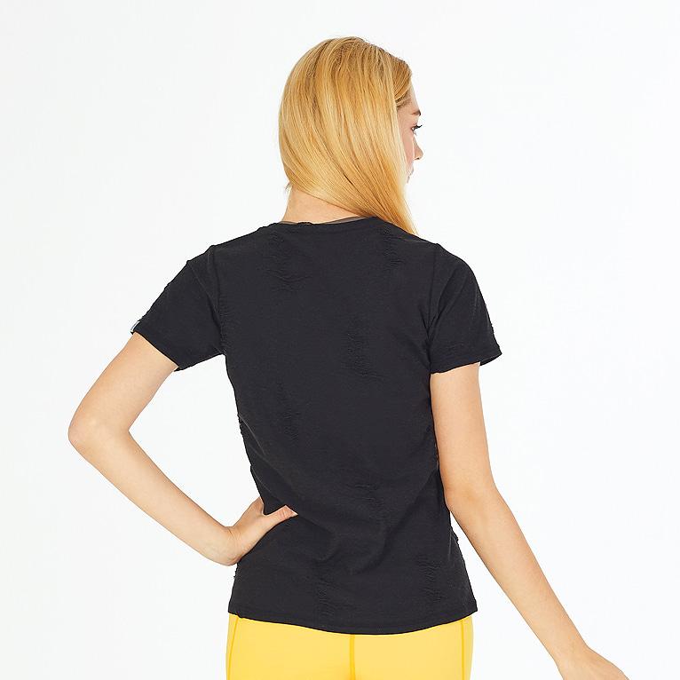 요가복 반팔 티셔츠 QNA3305-BK