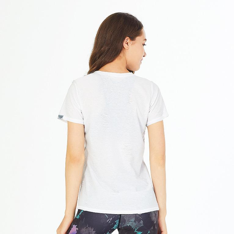 요가복 반팔 티셔츠 QNA3305-WH