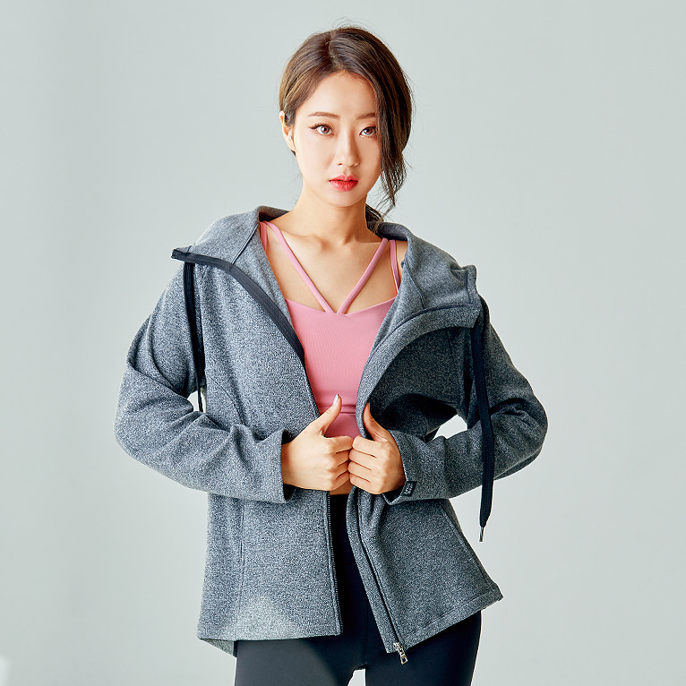 요가복 ANY HOOD JACKET QNA3804-GY