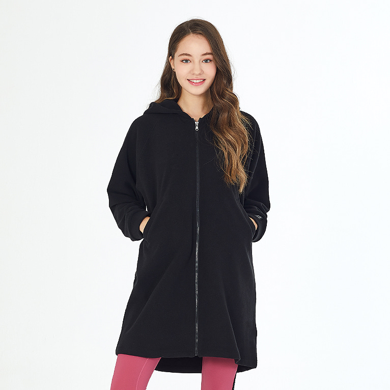 제인코트 요가복 ANY HOOD JACKET PRUSHED QNA3805-BK